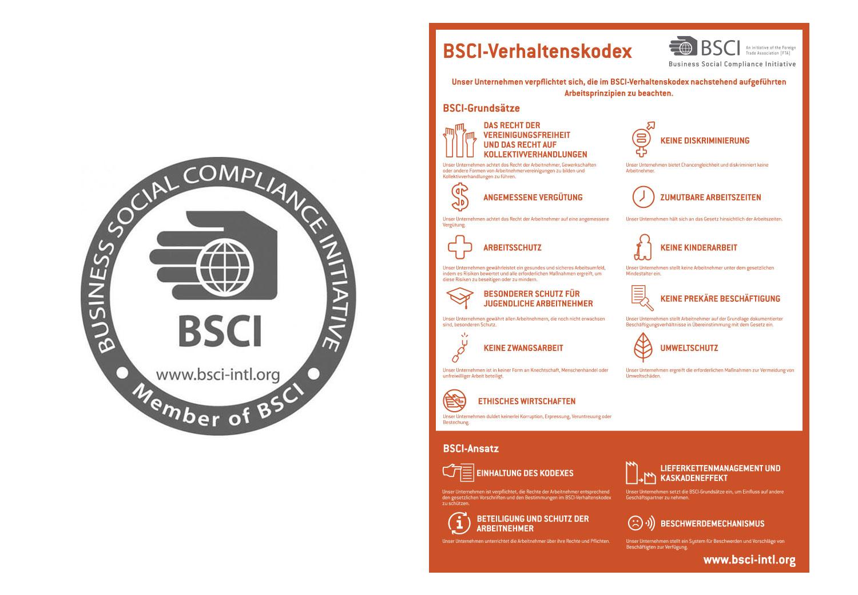 EIDEX Verantwortung BSCI Werbemittel