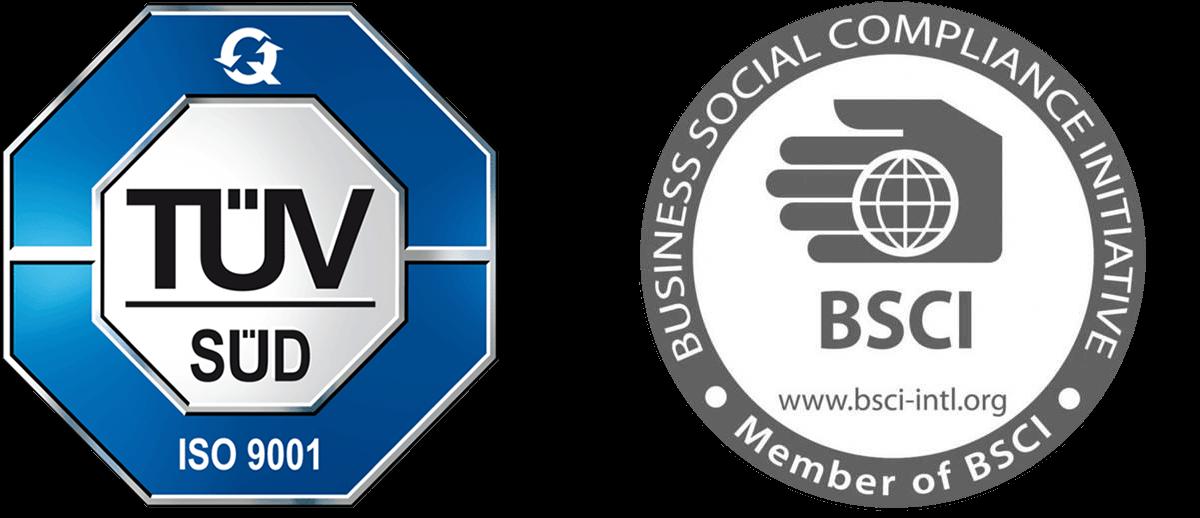 TÜV Süd BSCI Logo Zertifikat EIDEX Werbemittel