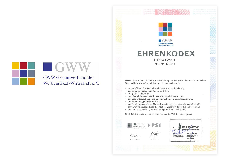 EIDEX Verantwortung Ehrenkodex Werbemittel