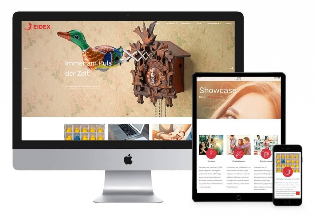 EIDEX Webseite Relaunch Werbemittel