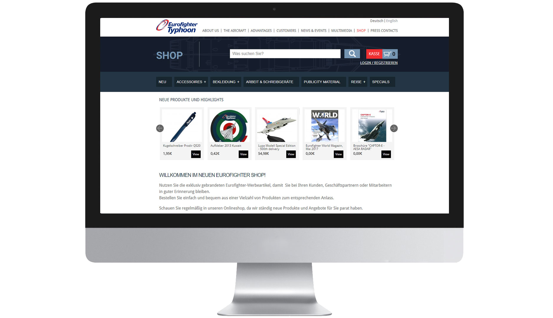 EIDEX Shopsysteme Eurofighter Typhoon